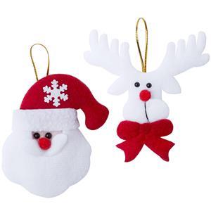 Rena e Pai Natal para Pendurar