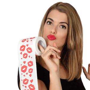 Rolo Papel Higiénico com Beijos