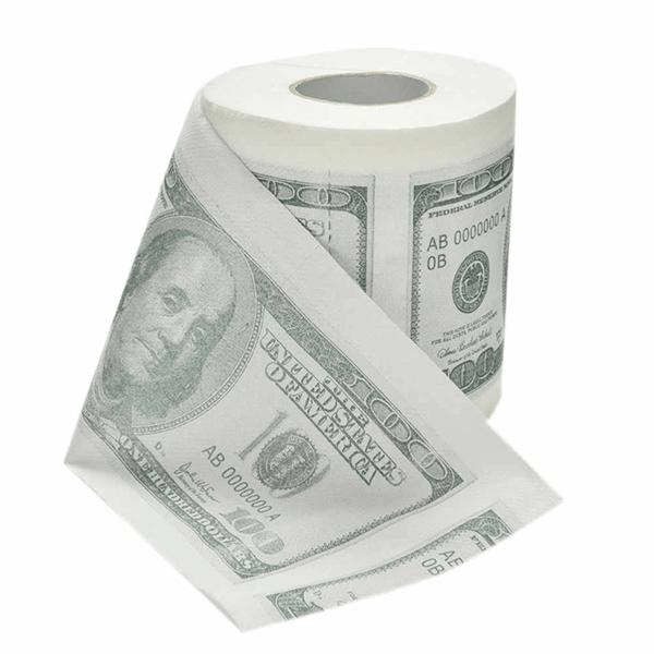Rolo Papel Higiénico Cómico Notas Dolar