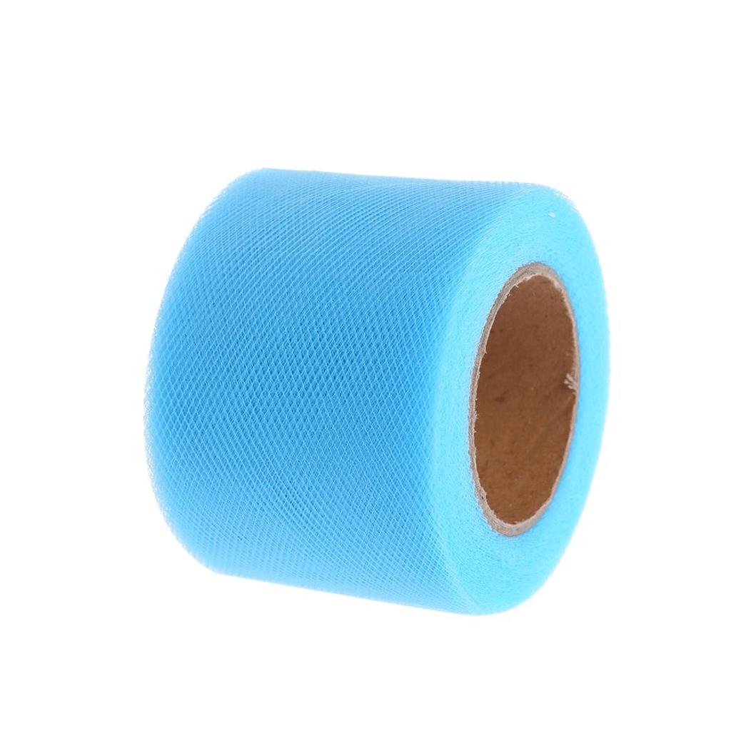 Rolo Tule Azul Claro, 100m