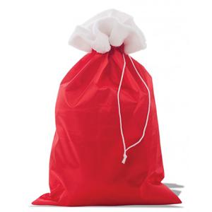 Saco Pai Natal Vermelho Liso com Pêlo, 70 x 47 cm