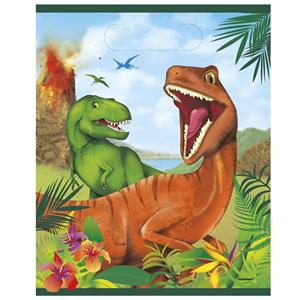 Sacos Dinossauros em Plástico, 22 Cm, 8 unid.