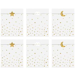 Sacos Estrelas Douradas, 6 unid.