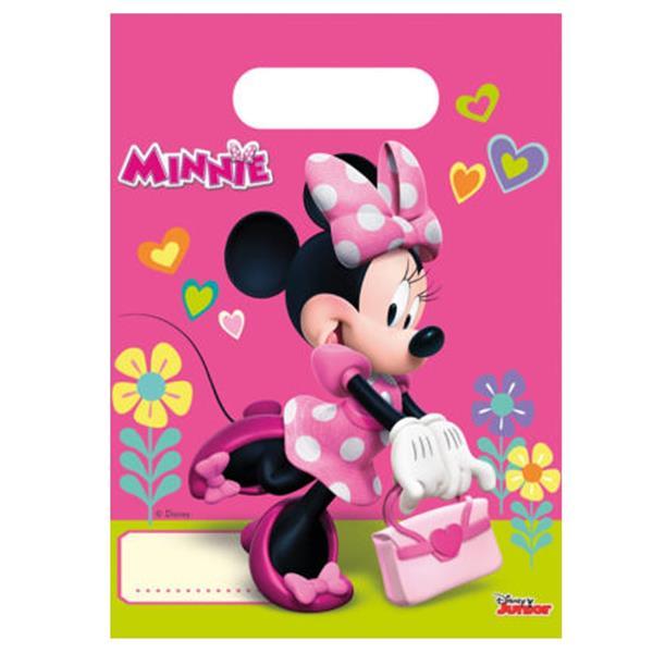 Sacos Minnie Rosa, 6 Unid.