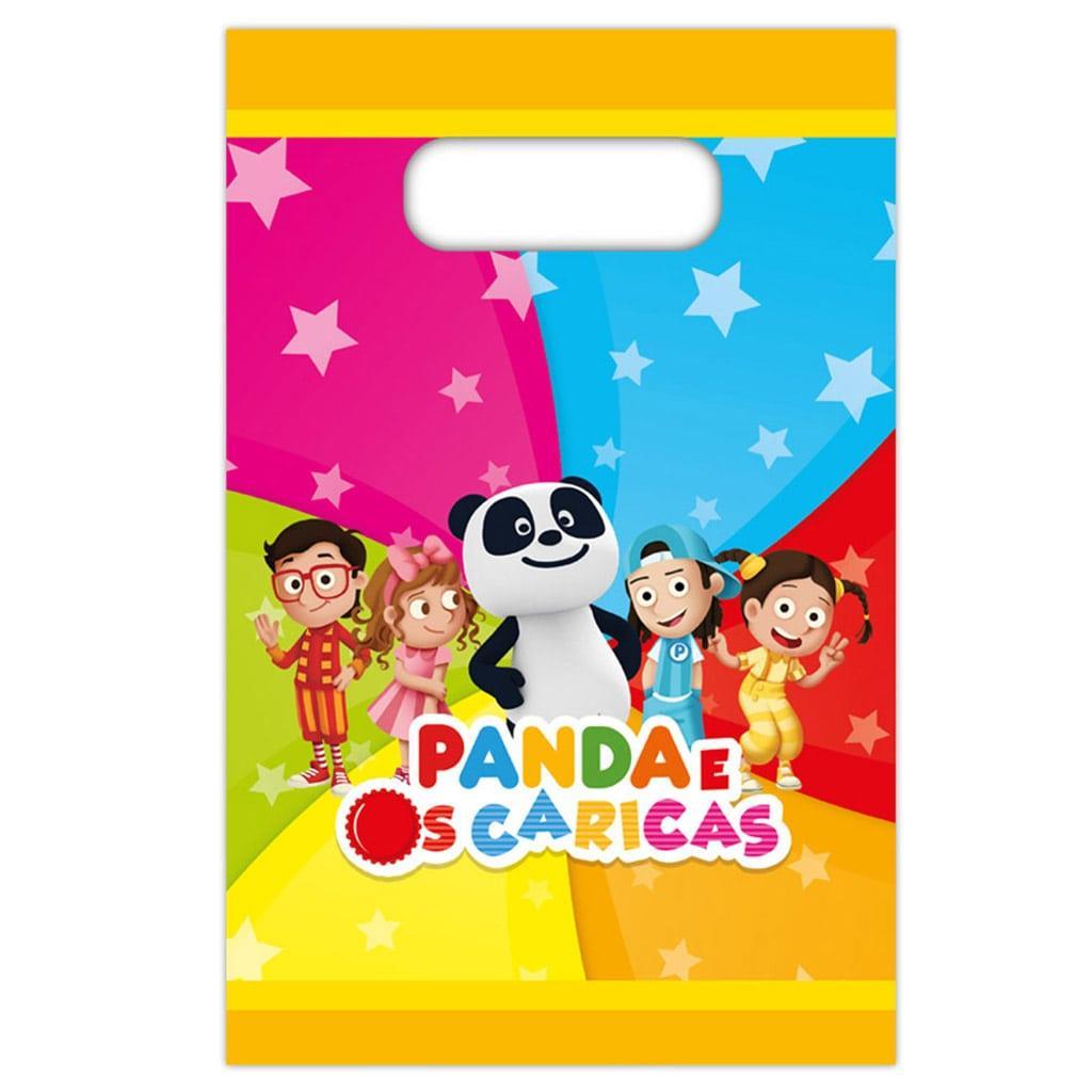 Sacos Panda em Plástico, 8 unid.