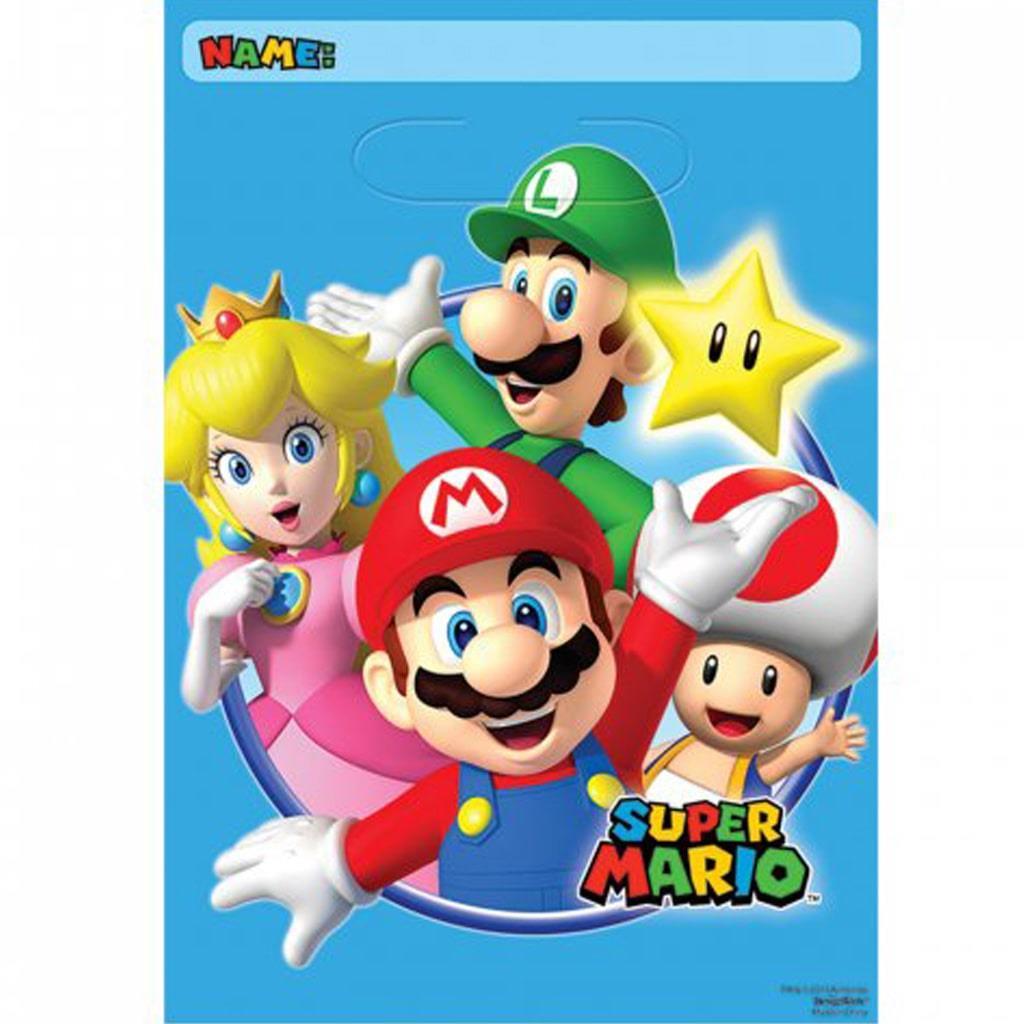 Sacos Super Mario, 8 unid.