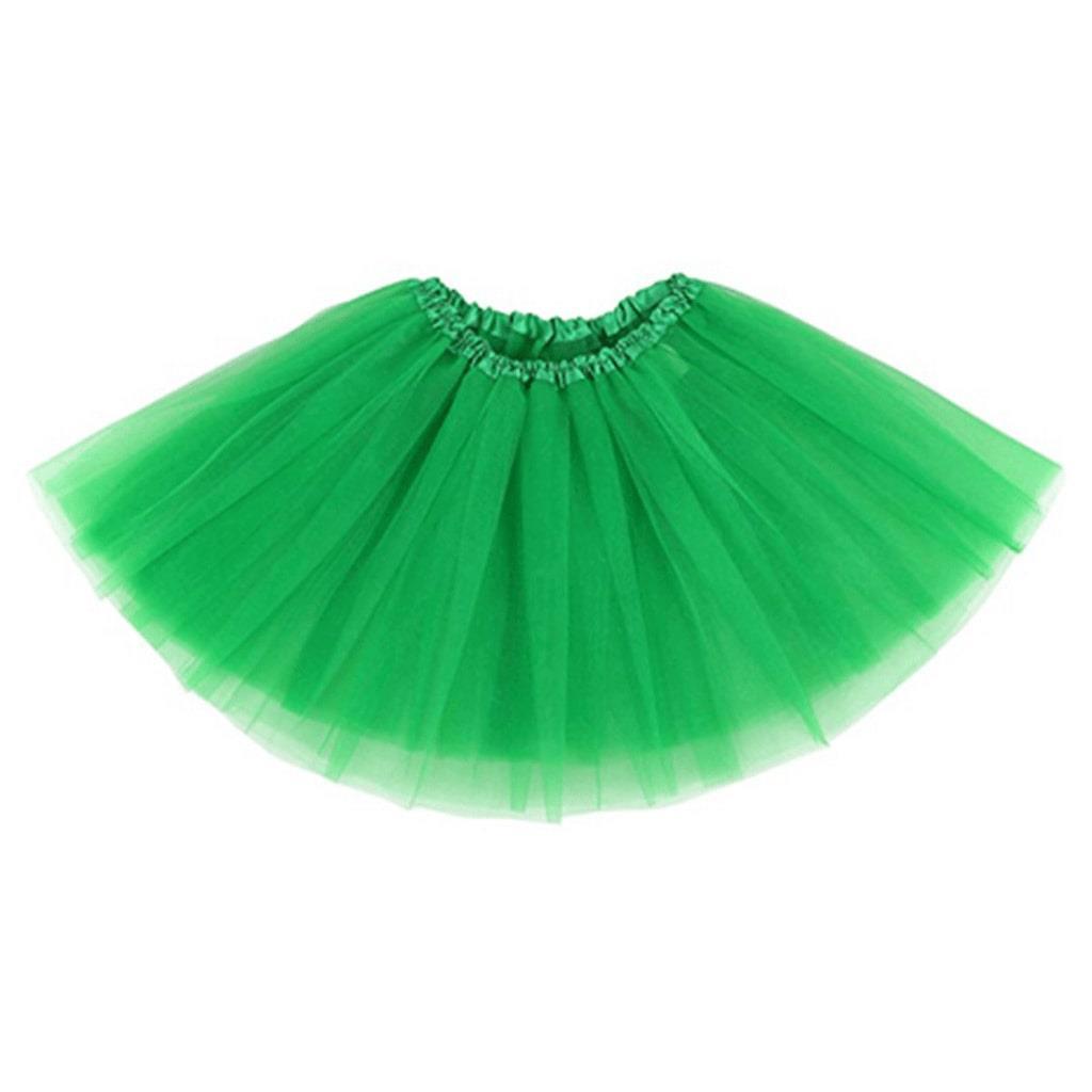 Saia Tutu Verde, 45 Cm