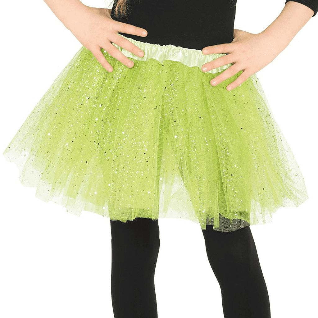 Saiote Tútu Brilhante Verde, Criança