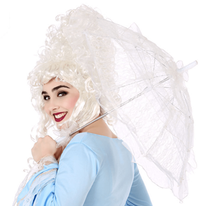 Sombrinha Dama Antiga em Renda Branca