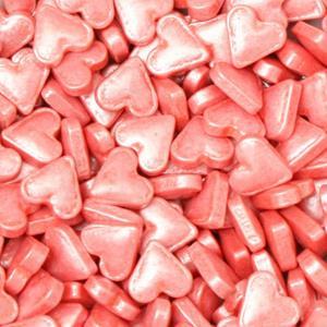 Sprinkles Comestíveis Corações Rosa Brilhantes, 56 gr