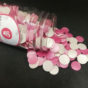 Sprinkles Comestíveis Mix Confetis Rosa, 55 gr.