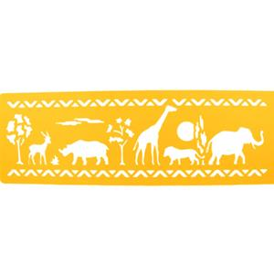 Stencil Animais da Selva, 30 x 8 cm