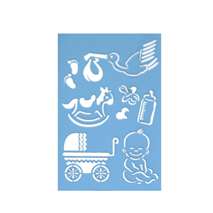 Stencil de Bebé, 10x15 Cm