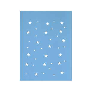 Stencil Fundo Estrelas, 15x20 Cm