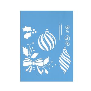 Stencil Pêndulo e Bolas de Natal, 15x20 Cm