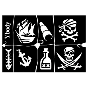 Stencil Piratas