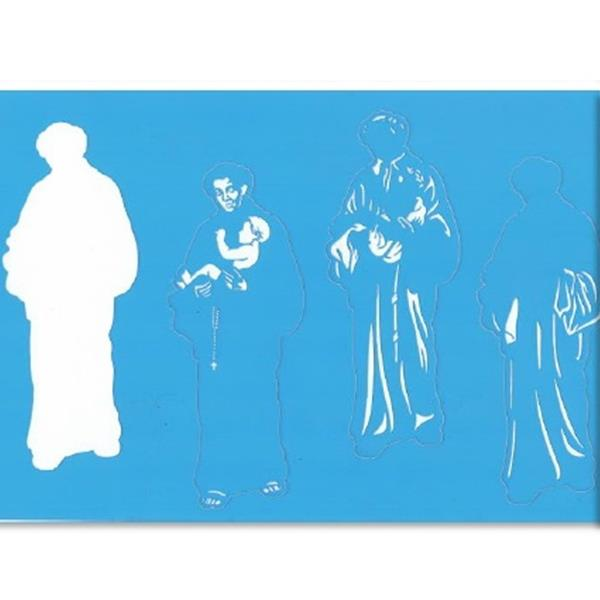 Stencil Santo António, 20x30 cm