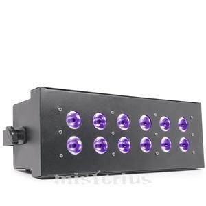 Strobe UV Luz Negra 12x 3W DMX