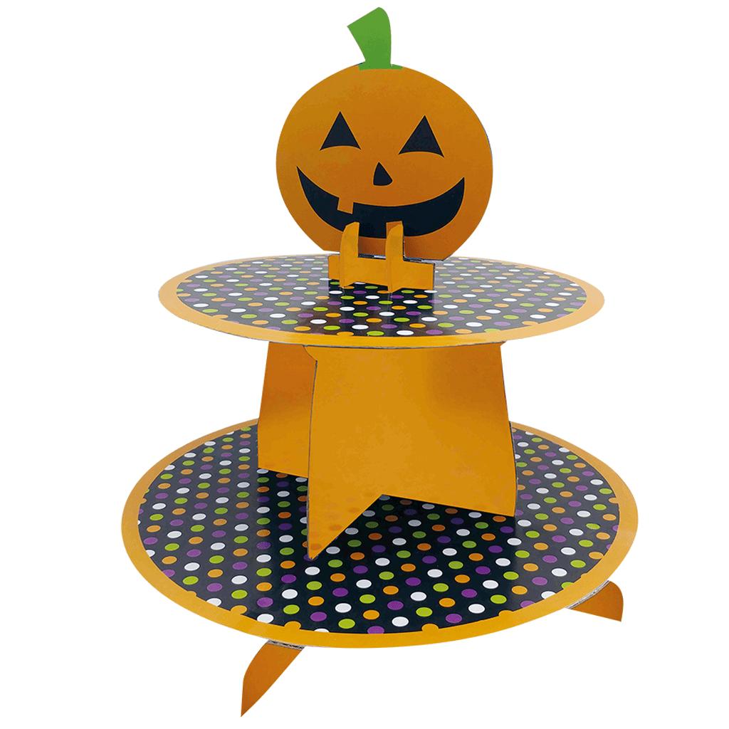 Suporte Cupcakes com Abóbora Halloween