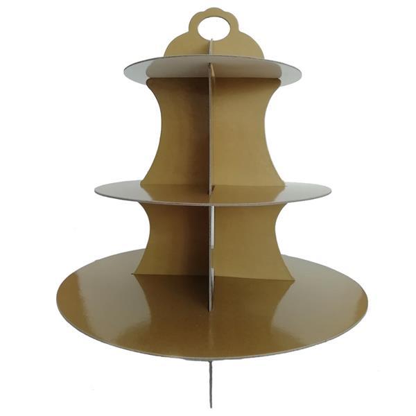 Suporte Cupcakes Dourado