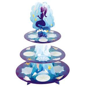Suporte Cupcakes Sereia, 3 andares
