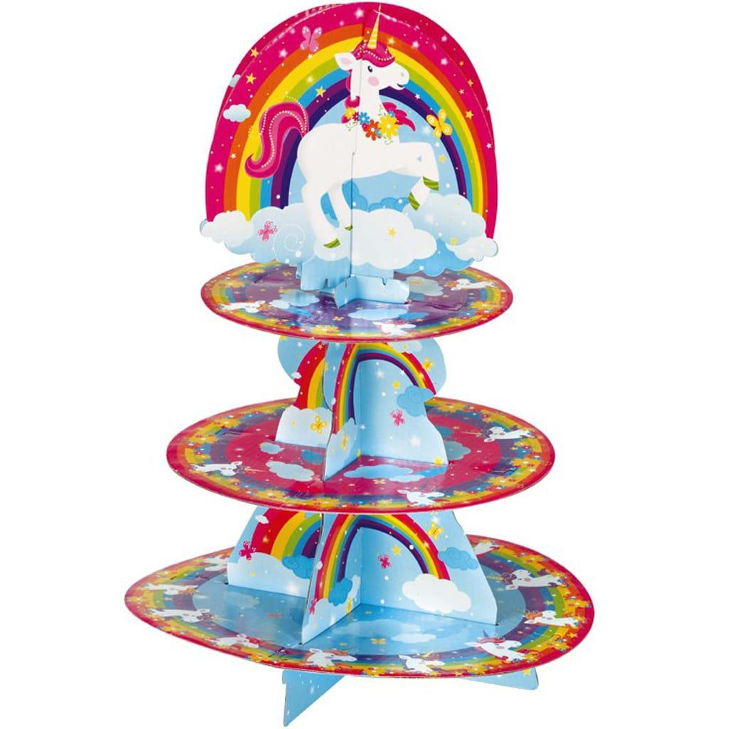 Suporte Cupcakes Unicórnio, 3 andares