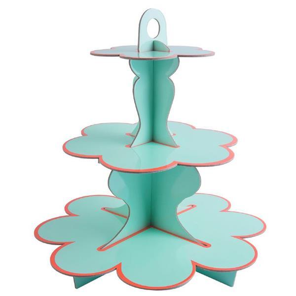 Suporte Cupcakes Verde Menta, 3 andares