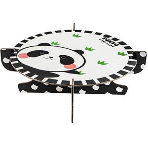 Suporte de Bolos Panda Risonho, 30 cm
