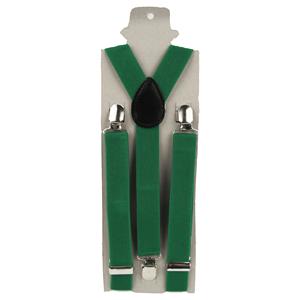 Suspensórios Verdes Elásticos Lisos
