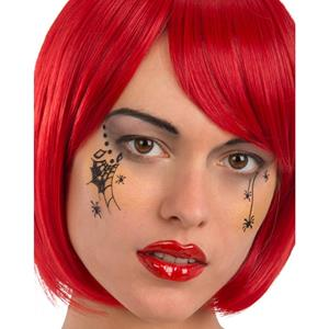 Tatuagens Adesivas com Aranhas Glitter