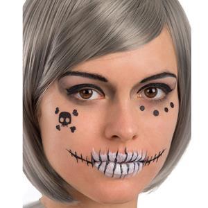 Tatuagens Adesivas Esqueleto Glitter