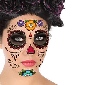 Tatuagens Temporárias Caveira Mexicana com Flores
