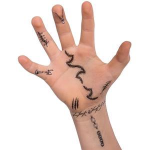 Tatuagens Temporárias para Dedos, 6 unid.
