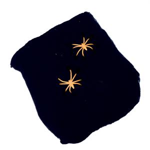 Teia Aranha Preta com 2 Aranhas, 57 Gr.