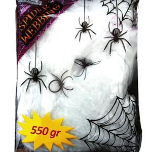 Teia Branca com Aranhas, 550 gr.