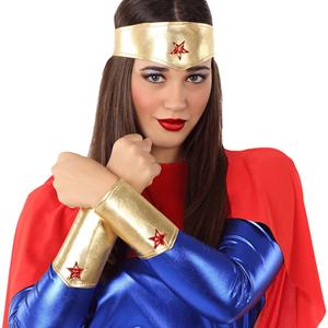 Tiara e Braceletes Wonder Woman