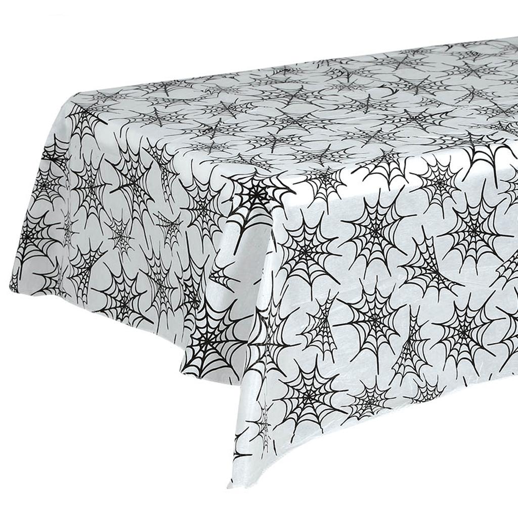 Toalha de Mesa com Teias de Aranha em Plástico, 175 x 130 cm