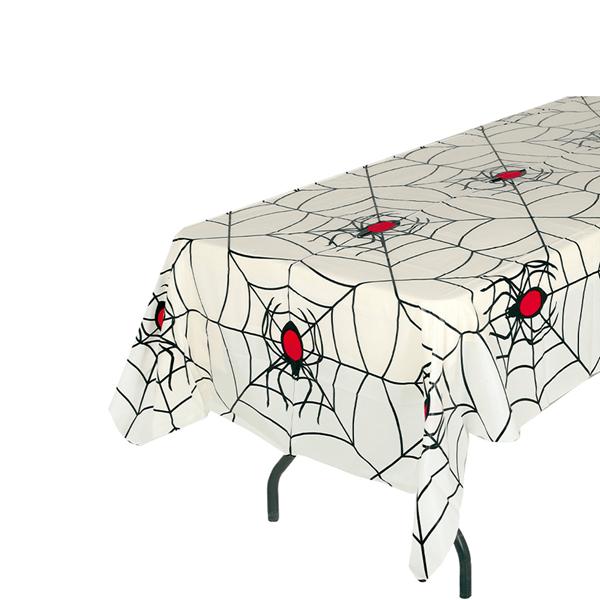 Toalha de Mesa com Teias e Aranhas, 270 x 135 Cm
