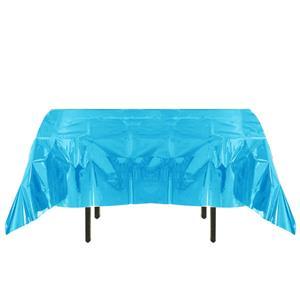 Toalha Mesa Azul Iridescente, 132 x 274 cm