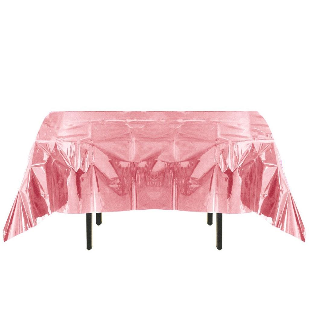 Toalha Mesa Rosa Iridescente, 132 x 274 cm