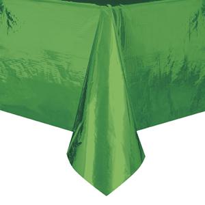 Toalha Mesa Verde Metalizado, 137 x 274 Cm