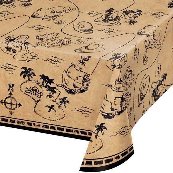 Toalha Pirata Mapa do Tesouro, 137 x 259 cm