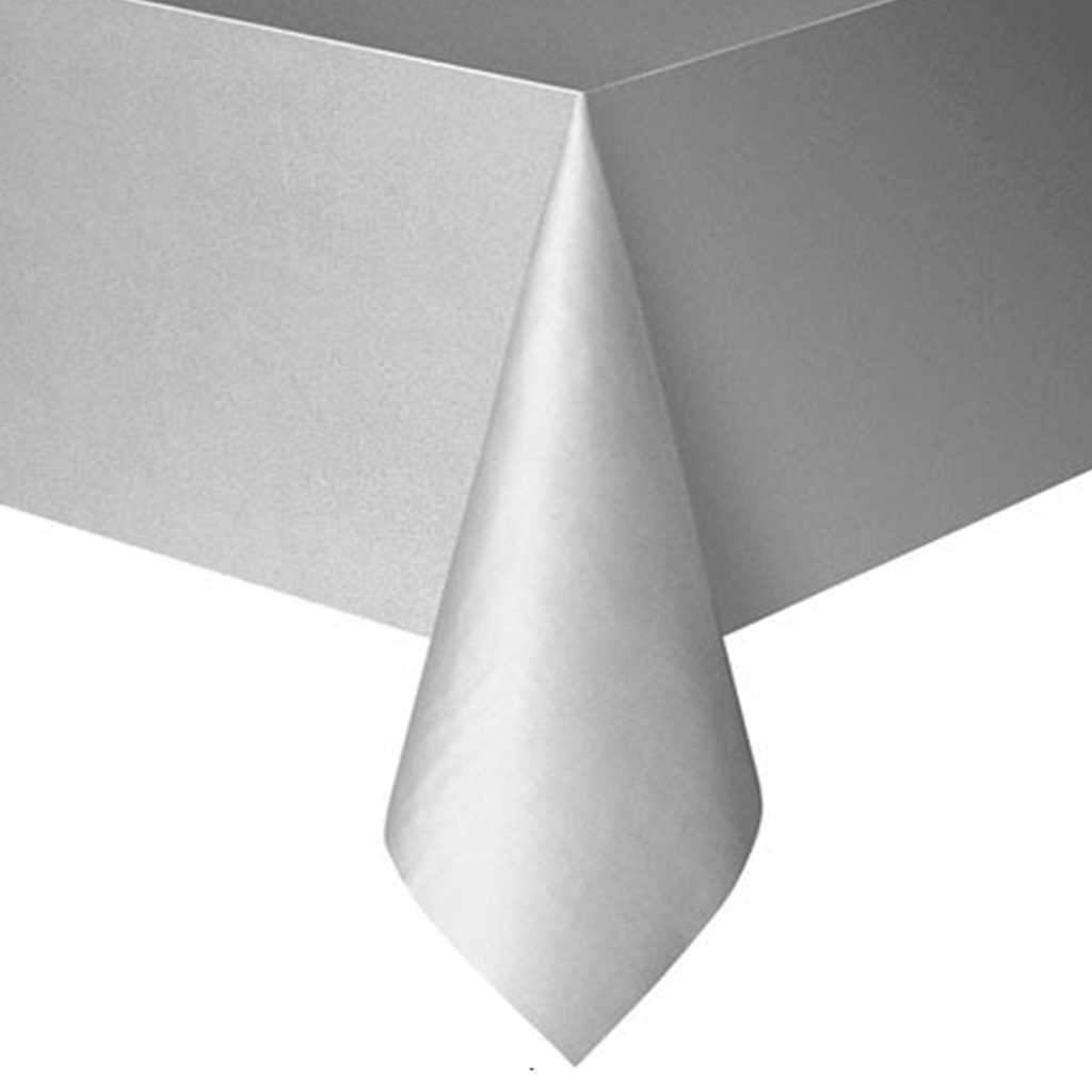 Toalha Mesa Prateada, 1.37 x 2.74mt