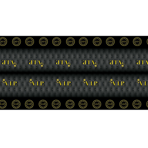 Toalha Preta e Dourada VIP, 270 x 136 Cm