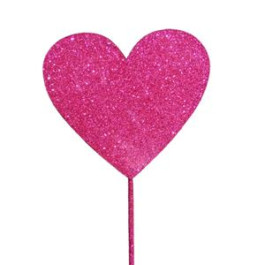 Topper Coração Rosa