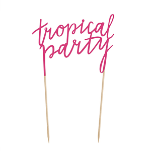 Topper de Bolo Tropical Party