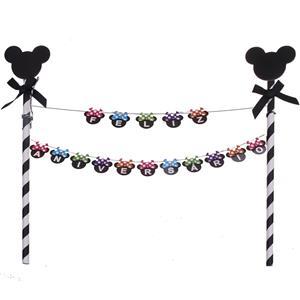 Topper Feliz Aniversário Mickey