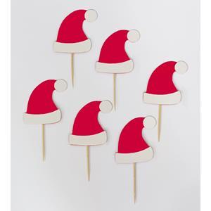 Topper Gorros Pai Natal, 6 unid
