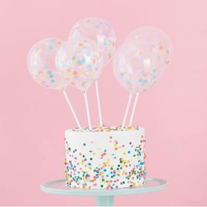Toppers Balões com Confetis, 5 unid.