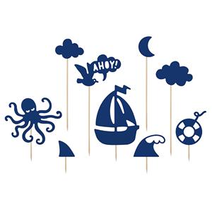 Toppers de Bolo Ahoy!, 9 Unid.